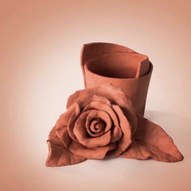 דוגמה דאס חום פרח