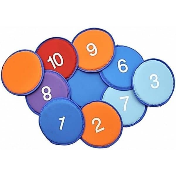צלחות מעופפות עם מספרים 1-10