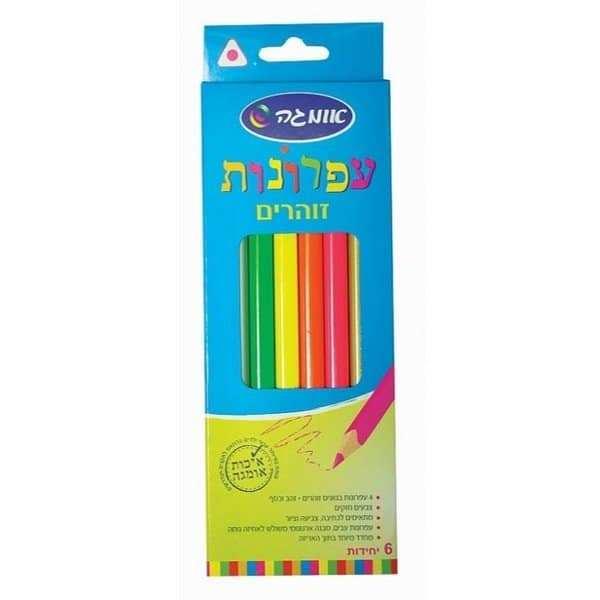 צבעי עפרון זוהרים 6 יח' אומגה