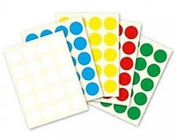 מדבקות עגולות בצבעים שונים