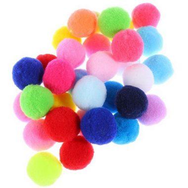 פונפונים צבעוניים ליצרה