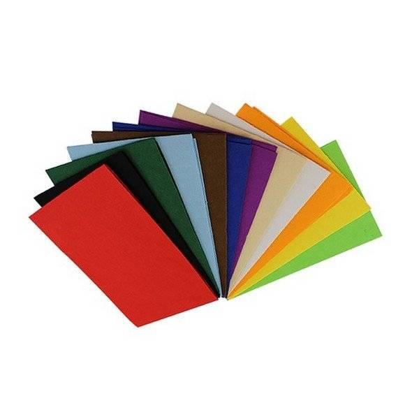 דפי לבד דביק 10 צבעים