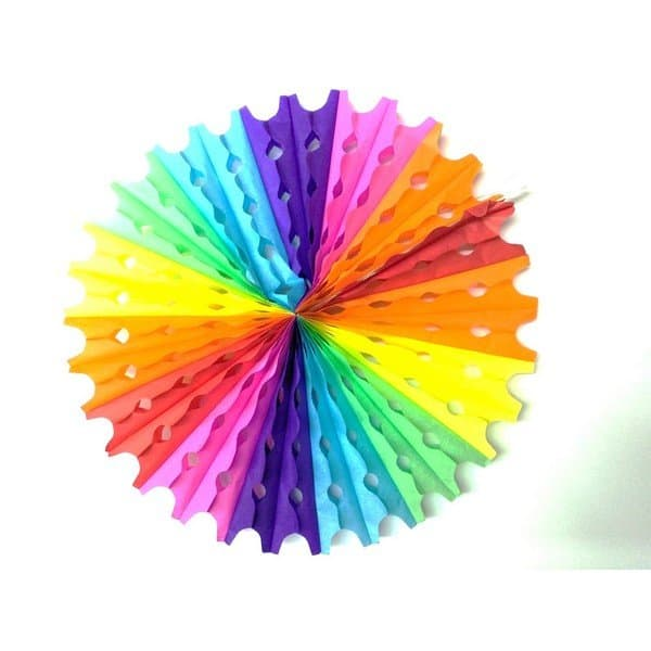 מניפה צבעונית לקישוט