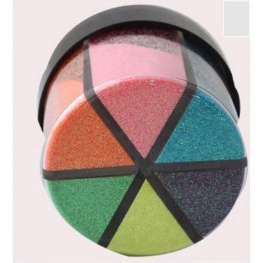 אבקת נצנצים 6 צבעים במלחייה