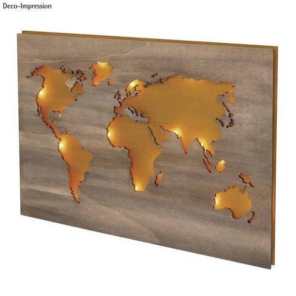 מפת העולם ליצירה בתלת מימד המחשה