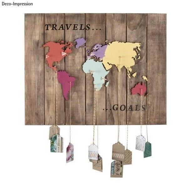 מפת העולם מעץ ליצירה המחשה