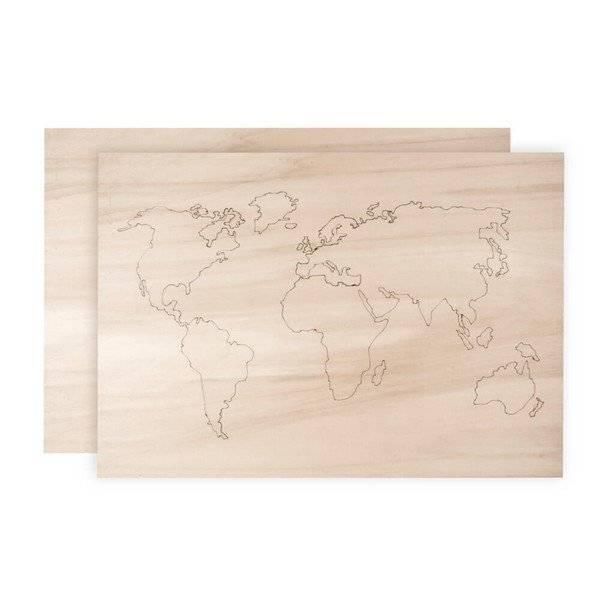 יצירה מפת העולם מעץ