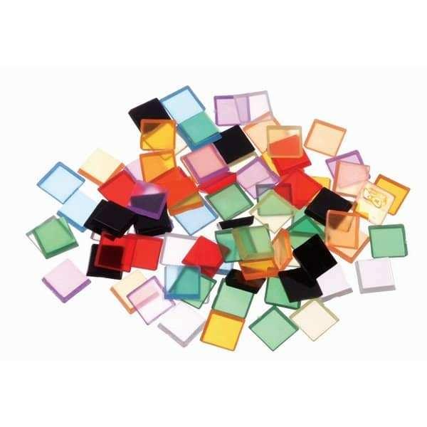 פסיפס צבעוני מפלסטיק שקוף ליצירה