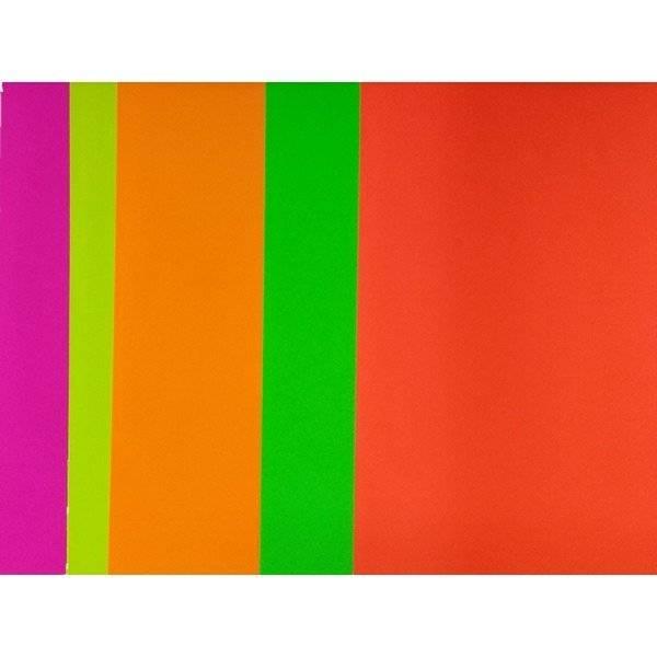 גיליונות בריסטול צבעים זוהרים ליצירה