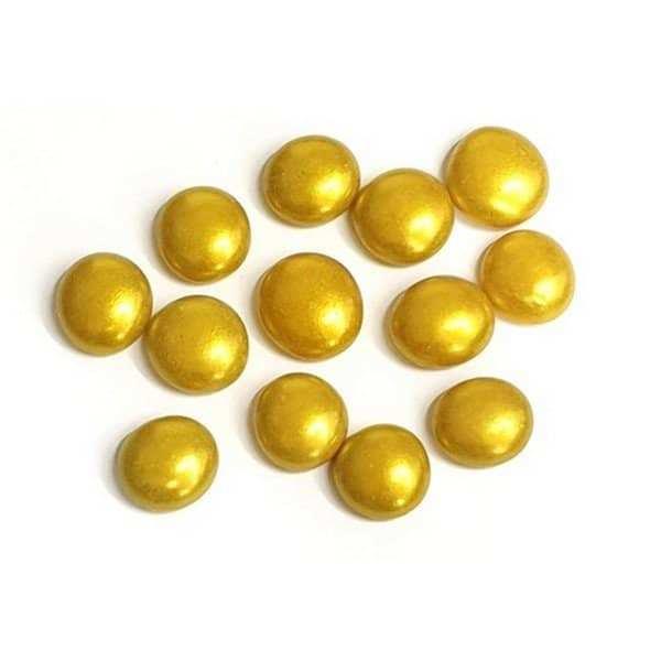 אבנים ליצירה בצבע זהב