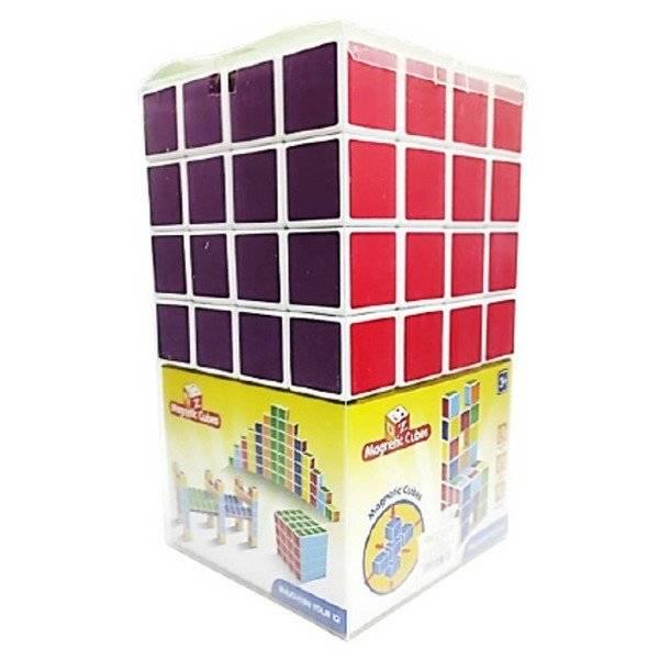 משחק קוביות מגנט 6 צבעים 64 יח'