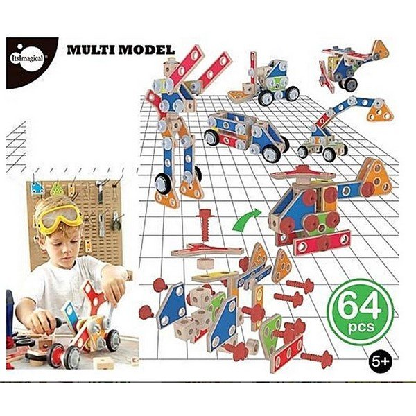 משחק הרכבה מודלים עם ברגים 64 חלקים