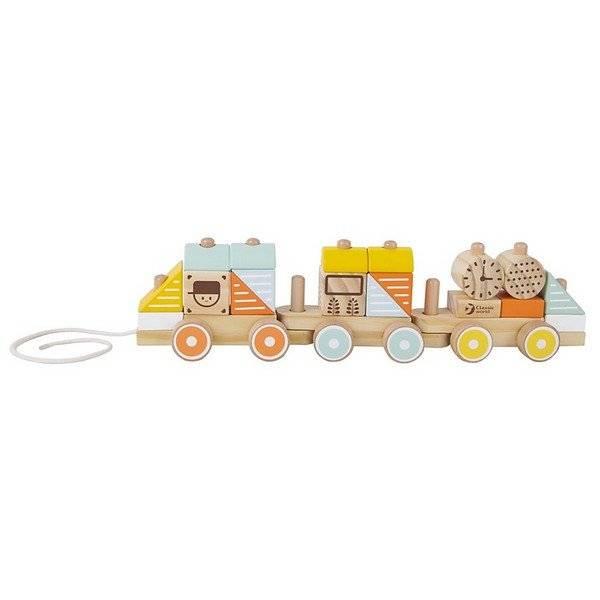 רכבת משיכה מעץ לילדים חלקים מתפרקים