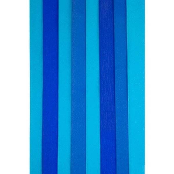 מארז נייר קרפ צבעי יום העצמאות כחול, תכלת ולבן 6 יח'
