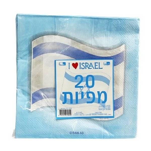 חבילת מפיות דגל ישראל 20 יח'