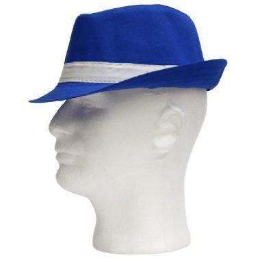 כובע בד כחול עם פס לבן גודל ילד