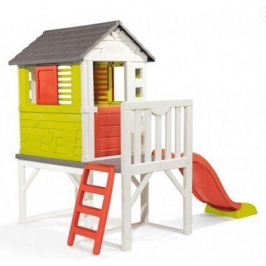 מתקן לחצר בית פעילות לילדים עם סולם ומגלשה