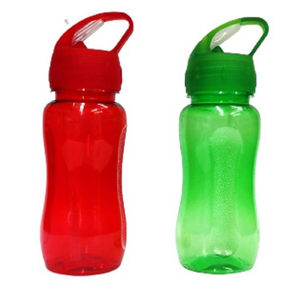 בקבוק ספורט פלסטיק שקוף