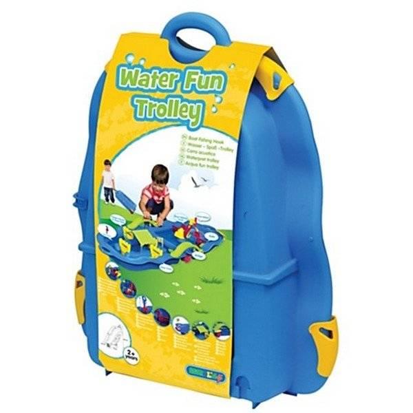 מזוודת פעילות חול ומים על גלגלים