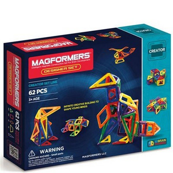 מגפורמרס משחק הרכבה מגנטי 62 חלקים