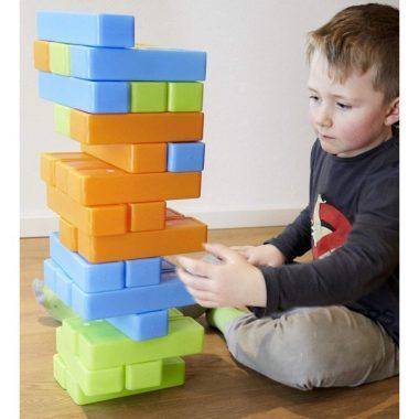 קוביות דומינו וג'נגה גדולות ילד משחק